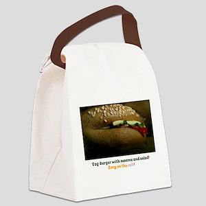 VAG BURGER WITH SESAME SEEDS! Canvas Lunch Bag