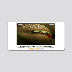VAG BURGER WITH SESAME SEED Aluminum License Plate