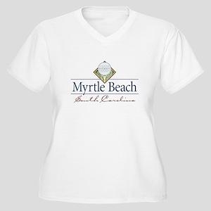 Myrtle Beach golf - Women's Plus Size V-Neck T-Sh