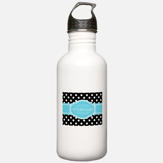 Black and White Dots A Water Bottle