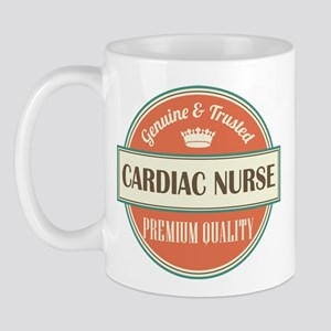 cardiac nurse vintage logo Mug
