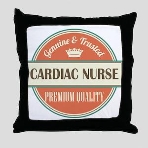 cardiac nurse vintage logo Throw Pillow