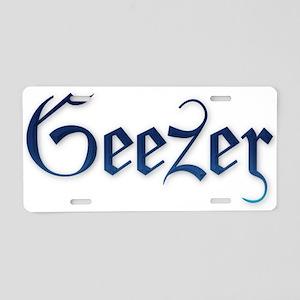 Geezer Has the Blues Aluminum License Plate
