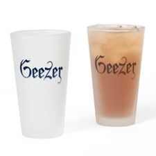 Geezer Has the Blues Drinking Glass