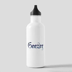 Geezer Has the Blues Water Bottle