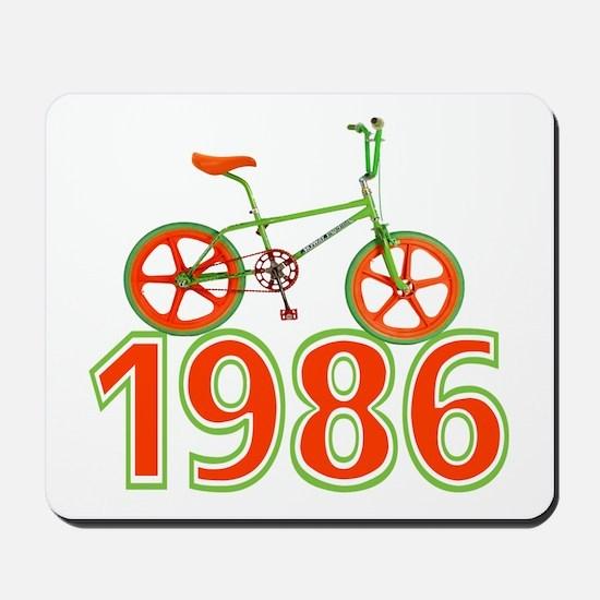 Retro 1986 BMX Bike Mousepad