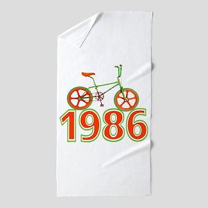 Retro 1986 BMX Bike Beach Towel