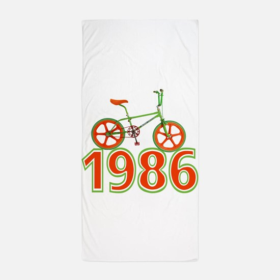 Retro 1986 BMX Bike Beach Towel