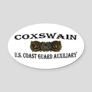USCG Auxiliary Coxswain Oval Car Magnet