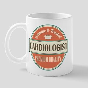cardiologist vintage logo Mug