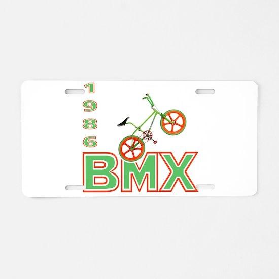 Funny 1986 Aluminum License Plate