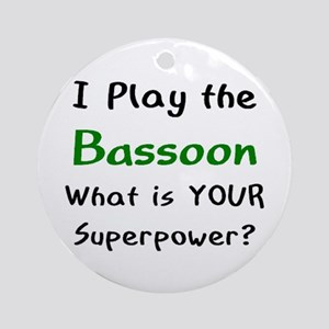 play bassoon Round Ornament