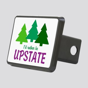 I'D RATHER BE UPSTATE Rectangular Hitch Cover