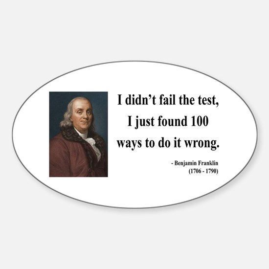 Benjamin Franklin 13 Oval Decal