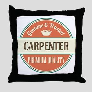 carpenter vintage logo Throw Pillow