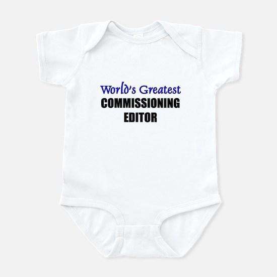 Worlds Greatest COMMISSIONING EDITOR Infant Bodysu