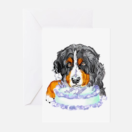 Bernese MT Dog Birthday Greeting Cards (Package of