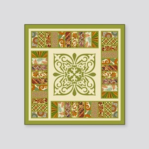 "PATCHWORK PERFECTION Square Sticker 3"" x 3"""