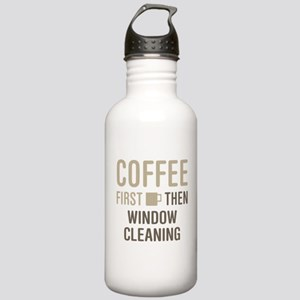 Coffee Then Window Cle Stainless Water Bottle 1.0L