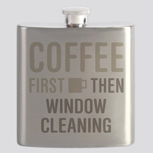 Coffee Then Window Cleaning Flask