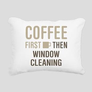 Coffee Then Window Clean Rectangular Canvas Pillow