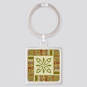 PATCHWORK PERFECTION Square Keychain