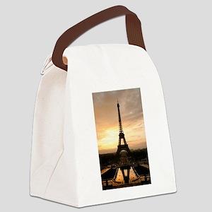 Eiffel Tower Paris Canvas Lunch Bag