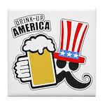Drink Up America Tile Coaster