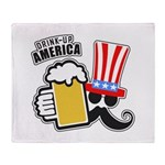 Drink Up America Throw Blanket