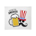 Drink Up America Throw Blanket