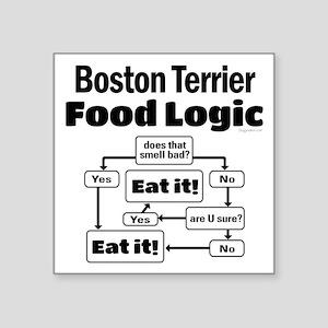 """Boston Food Square Sticker 3"""" x 3"""""""