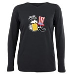 Drink Up America Plus Size Long Sleeve Tee