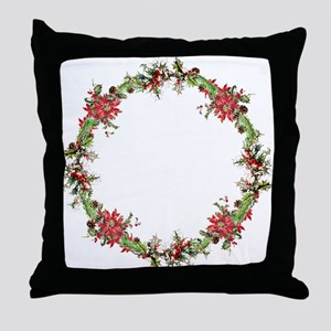 Holiday wreath Throw Pillow