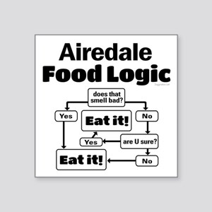 "Airedale Food Square Sticker 3"" x 3"""
