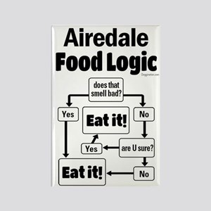Airedale Food Rectangle Magnet