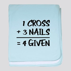 One Cross Plus Three Nails Equals For baby blanket