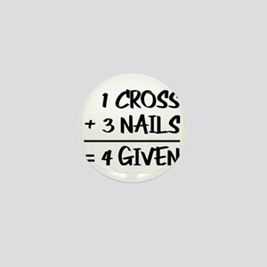 One Cross Plus Three Nails Equals Forg Mini Button