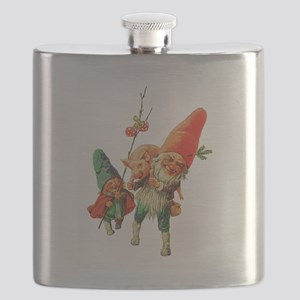 Gnomes with a Baby Pig Flask