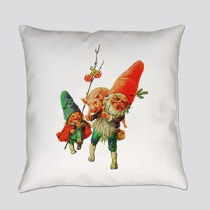 Gnomes with a Baby Pig Everyday Pillow
