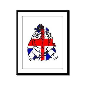 British Bulldog Framed Panel Print