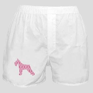 Pink Ribbon Schnauzer for Cancer Boxer Shorts