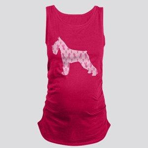 Pink Ribbon Schnauzer for Cancer Maternity Tank To