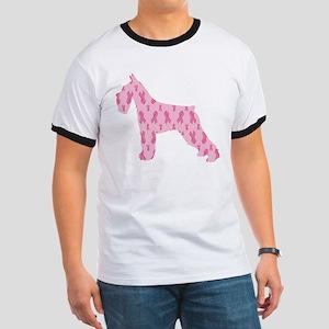 Pink Ribbon Schnauzer for Cancer T-Shirt
