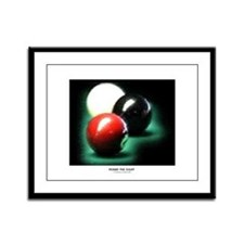 Behind The 8 Ball Framed Panel Print