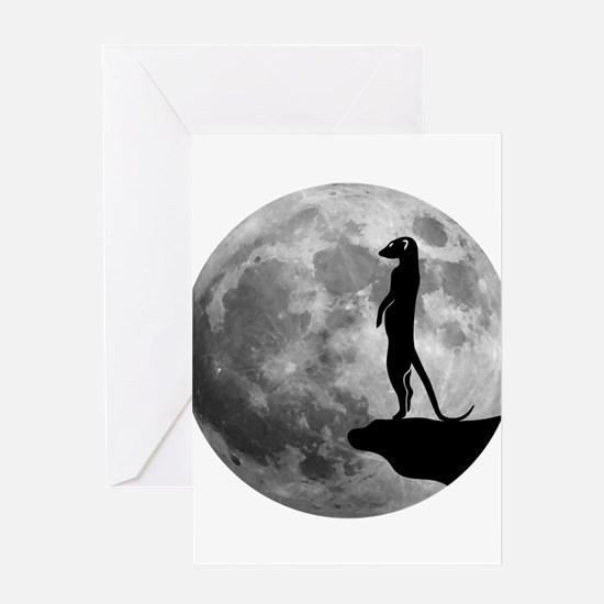 meerkat erdmännchen mond moon Greeting Cards