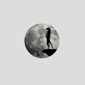 meerkat erdmännchen mond moon Mini Button