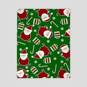 Cute Round Santa Holiday Pattern Twin Duvet