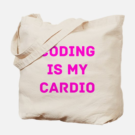Coding Is My Cardio (Pink) Tote Bag