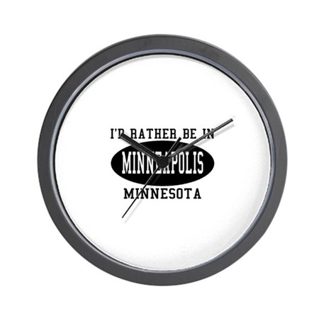 I'd Rather Be in Minneapolis, Wall Clock