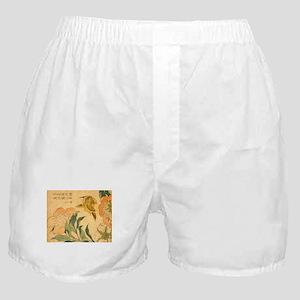 Peony and Canary by Hokusai Katsushik Boxer Shorts